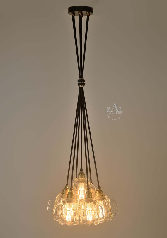 SOLO Metal Handmade Pendant Light Chandelier Edison Restoration Industrial style Fabric cables tube