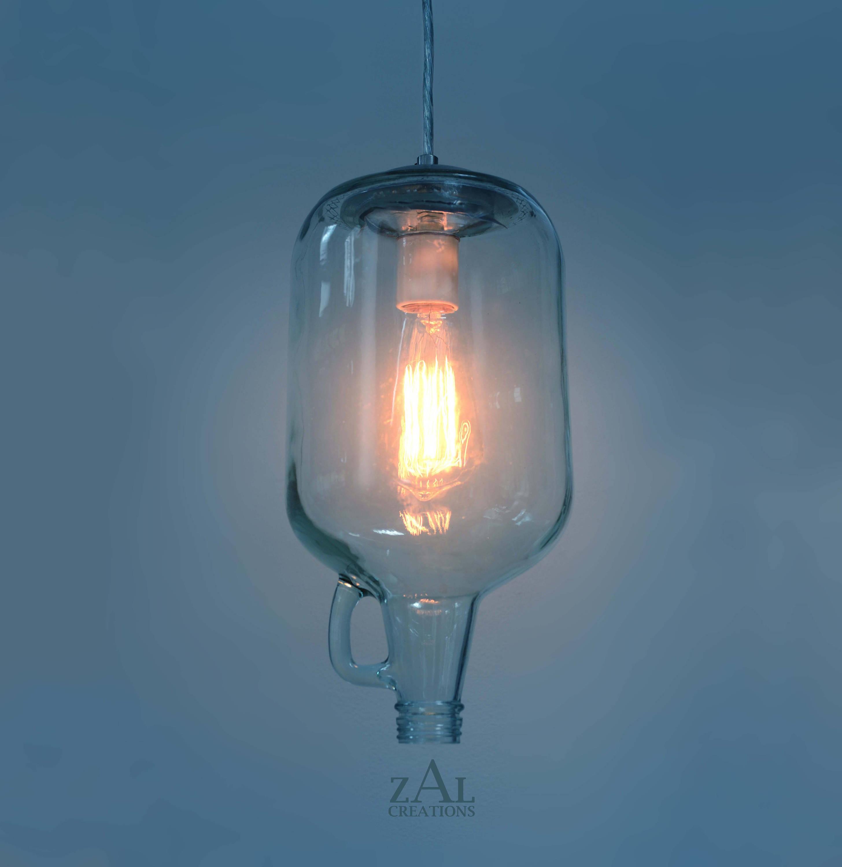 Pendant light Wine Jug Edison antique lamp kitchen island   Etsy