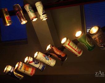 Track light, Vintage Beer can Track light. 1.