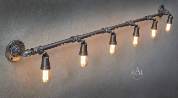 Industrial Pipe Wall Light Rustic Industrial Track Lighting Wall Spot Lighting UL LISTED! Adjustable Industrial Track Spot Lighting