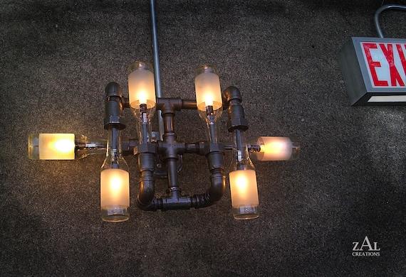 Wandleuchte Lampe Bierflaschen Sanitar Rohr Armaturen Etsy