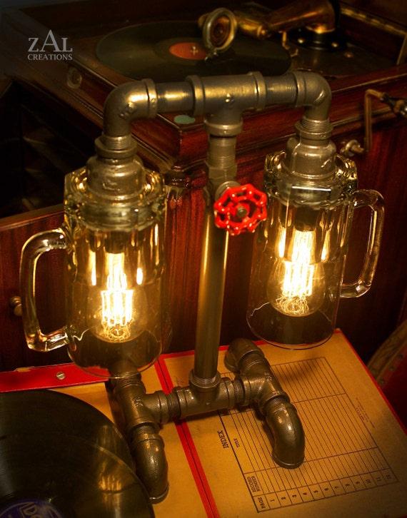Lampada Da Tavolo Tazze Di Birra Tubi Idraulici E Accessori Etsy