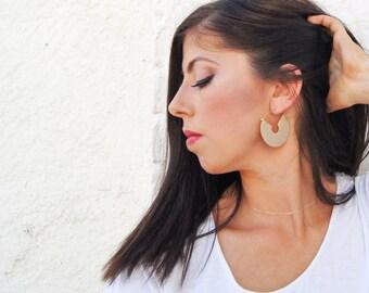 Gold Hoop Earrings - Modern Chunky Hoops - Gold Modern Hoop Earrings