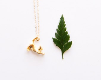 Cat Necklace - 14k Gold Filled Cat Necklace