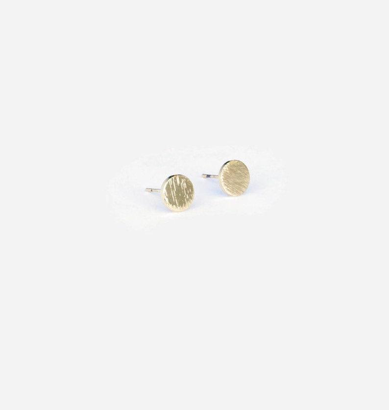 Gold Stud Earrings . Gold Stud Earrings Circles image 0