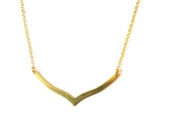 Simple Gold Filled Necklace Art Deco Necklace 14k Gold Filled