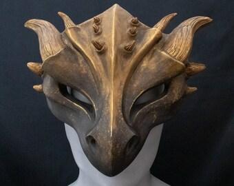 Dragon Mask Emerald Sapphire Half /& Half Masquerade Costume