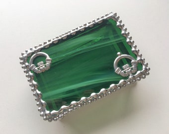 Inlayed Claddagh Trinket Box