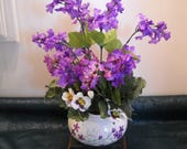 Flower Arrangement - Perfect quot Two in One quot Gift - Ceramic Plant Container Centerpiece