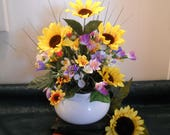 Flower Arrangement - quot Two in One Gift quot - Ceramic Planter and Centerpiece