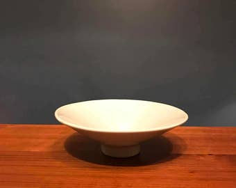 Haeger USA 3296.1985 Footed Gray Ceramic Bowl