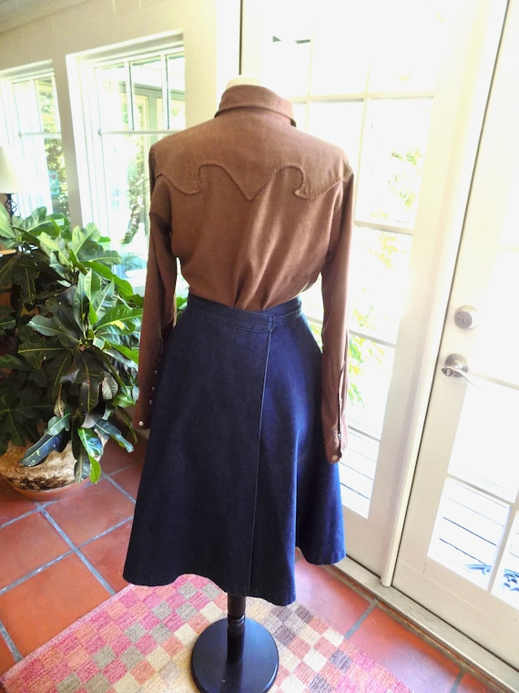 RESERVED Vintage Woman's Tem Tex western shirt 19… - image 8