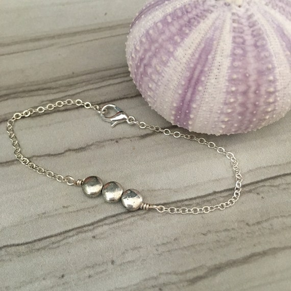 Silver Bracelet Simple Silver Circles Bracelet Etsy