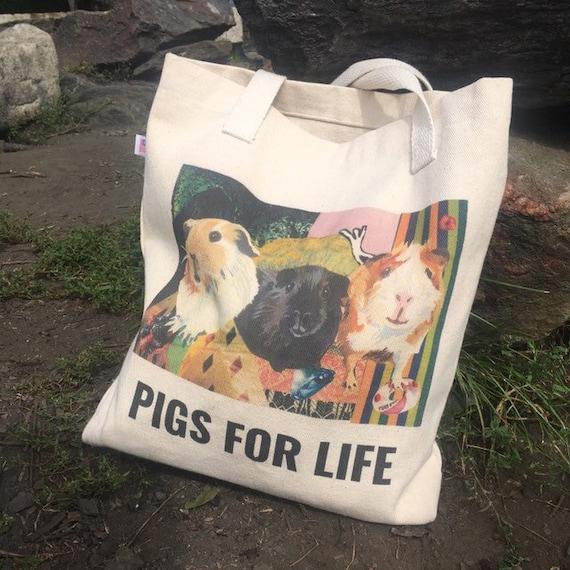 I Like Guinea Pigs And Maybe Like 3 People Tote Bag Long Handles TB1956