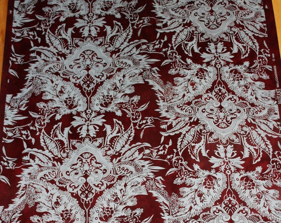 "Vintage Wallpaper Victorian Damask 23 Yards 27"" Wide"