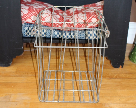 Large Vintage Wire Egg Crate Minnesota Industrial Farmhouse Decor