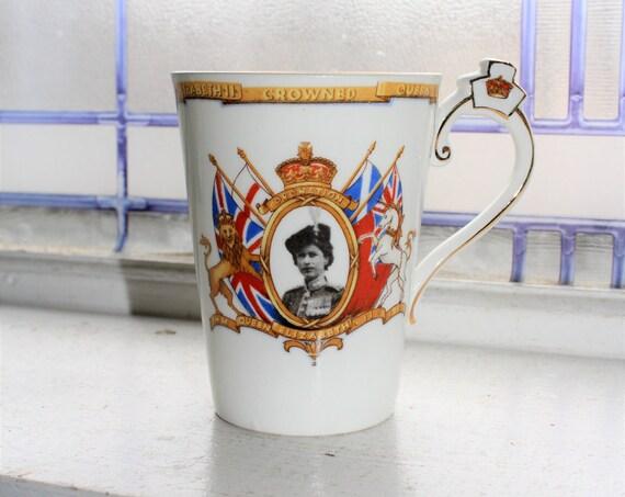 Vintage 1953 Cup Queen Elizabeth Coronation Radfords Bone China