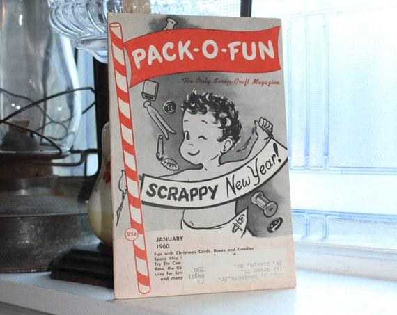 Vintage 1960 Pack-O-Fun Crafts Book Scrap Craft Magazine
