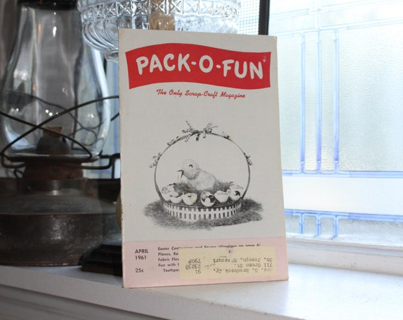 Vintage 1960s Pack-O-Fun Crafts Book Scrap Craft Magazine April 1961