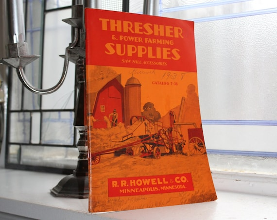 Vintage 1938 Catalog Thresher and Power Farming Supplies Saw Mill Accessories