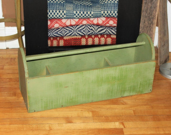 Large Wooden Tool Box Garden Tote Window Box Vintage Farmhouse Decor