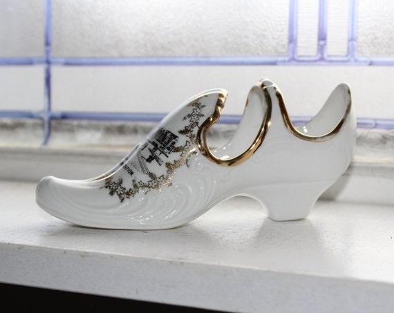 Antique Porcelain Shoe Souvenir St Louis Union Station