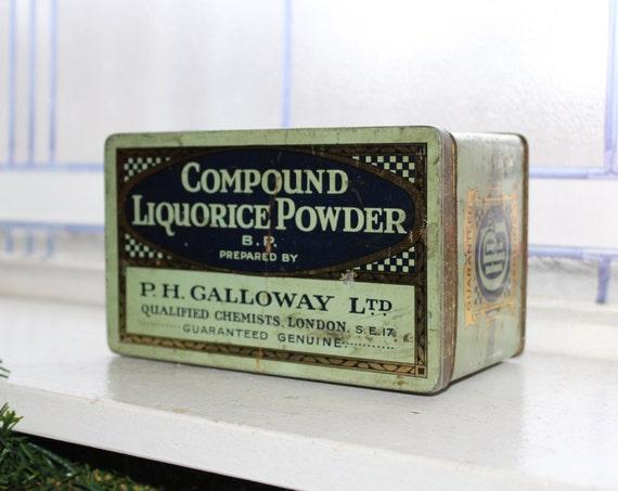 Antique Compound Licorice Powder Tin