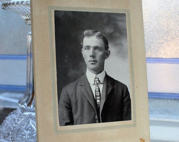 Antique Photograph Cabinet Card Young Edwardian Man