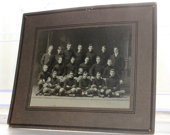 Antique 1914 Football Team Large Photograph MHS Red River Champs