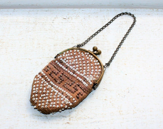 Antique Beaded Coin Purse Made in Germany