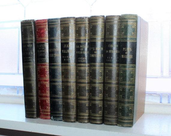 Classic Books 8 Vol. Set Circa 1900 Confucius Dorian Gray V. Hugo Etc