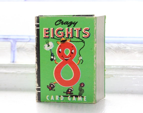 Vintage Card Game Crazy Eights Mini