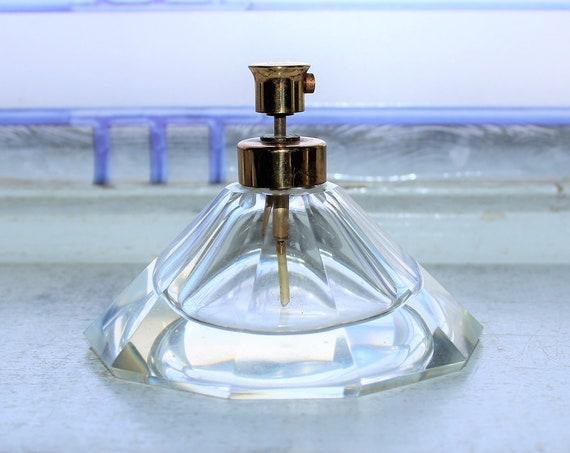Vintage Art Deco Crystal Perfume Bottle