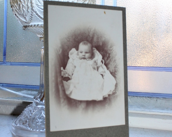 Antique Cabinet Card Photograph Victorian Baby 1800s