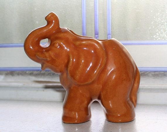 Rosemeade Pottery Elephant Planter Vintage 1950s