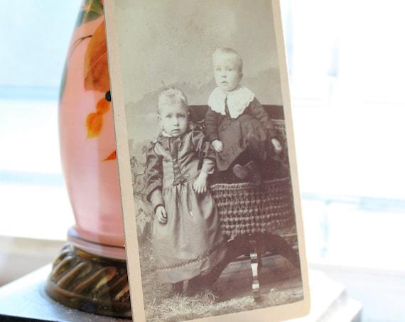 Antique Carte De Visite Photograph Victorian Children 1800s