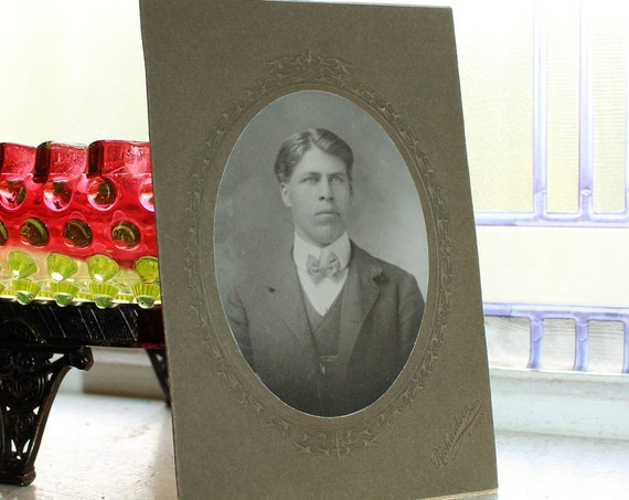 Edwardian Man Cabinet Card Photograph Antique 1800s Photo