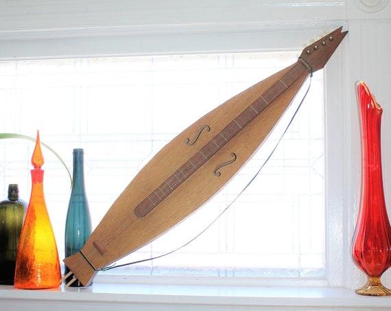 Vintage Dulcimer Handmade Wooden Folk Art Mountain Music