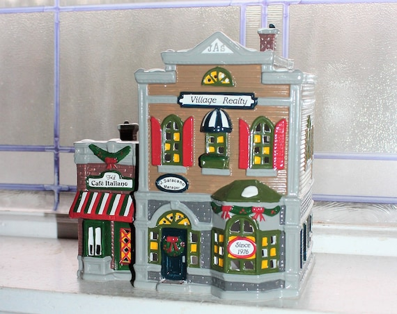 Dept 56 Snow Village 1990 Village Realty with Box 5154-3
