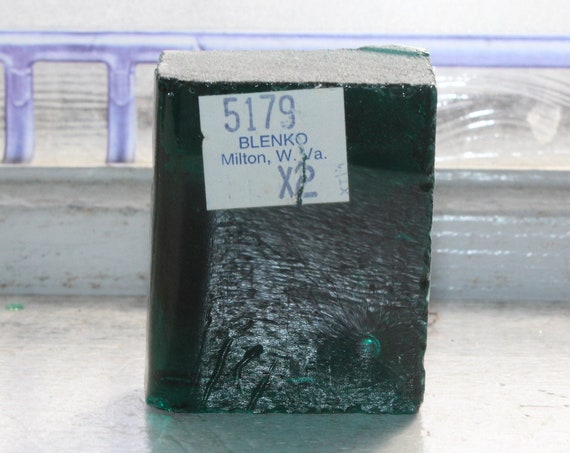 Vintage Blenko Glass Color Sample Block Paperweight Art Supply 5179 X2