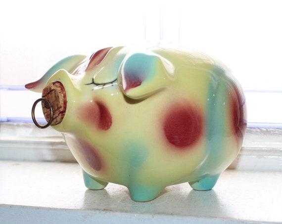 Vintage Hull Pottery Corky Pig Piggy Bank