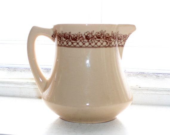 Vintage Syrup Pitcher Mayer China Restaurant Ware Rosemont Mayan Ware