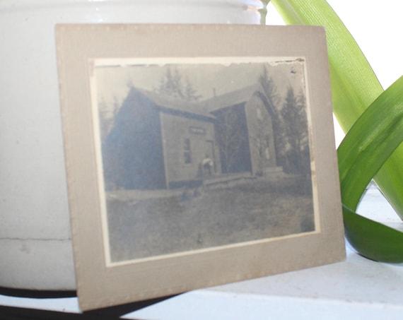 Antique Cabinet Card Photograph Country Farmhouse
