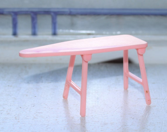 Vintage Dollhouse Furniture Renwal Pink Ironing Board No. 32 1960s