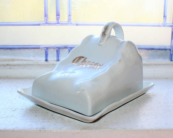 Antique Cheese Keeper Covered Dish Germany