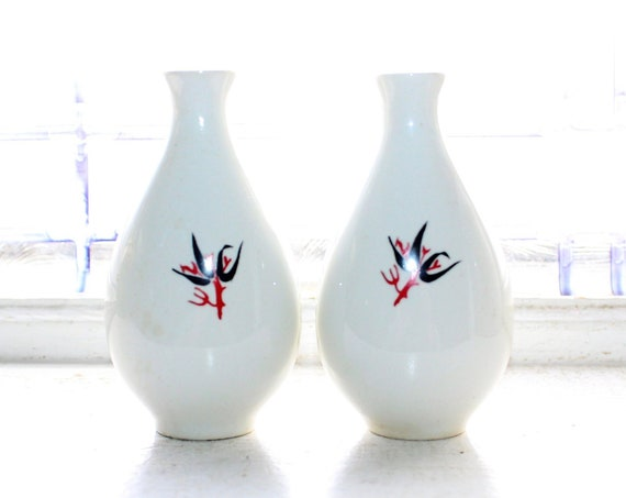 Vintage Mid Century Salt and Pepper Shakers 1950s