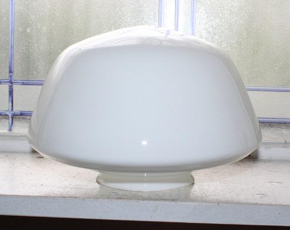 Vintage Milk Glass Schoolhouse Light Fixture Globe 9 Inch Shade