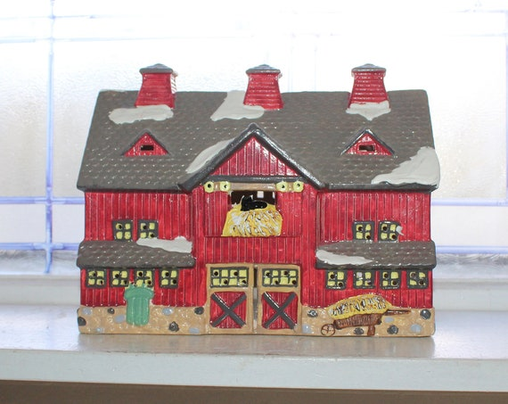 Dept 56 Snow Village 1987 Red Barn with Box 5081-4