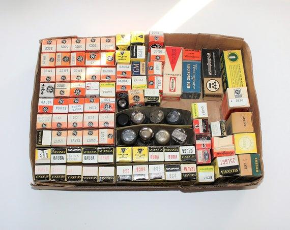 94 Vintage Vacuum Tubes Radio and TV GE Raytheon Sylvania and More