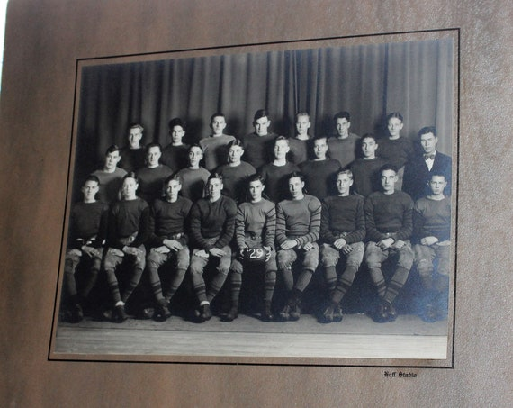 Antique Football Team Large Photograph Grand Forks, ND Circa 1929